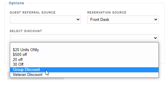 Add a coupon to a reservation from the back end