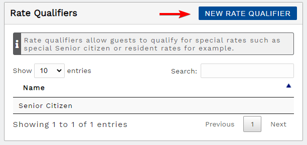 Add a rate qualifier button